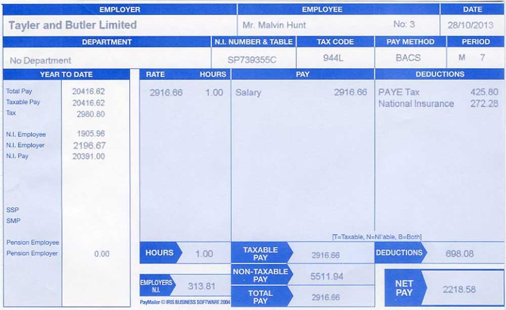 Doc739446 Sample Payslip Uk Payroll Manager Software Employee – Payslip Sample Uk